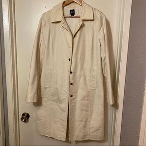 Winter white Gap knee length coat